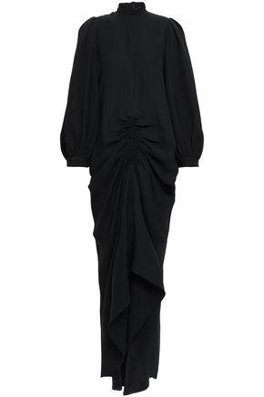 JOSEPH Ruched silk-crepe midi dress