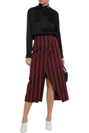 BY MALENE BIRGER Pleated satin-twill blouse