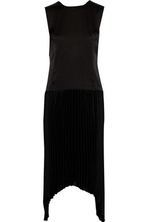 BY MALENE BIRGER Dagnymala pleated satin-crepe dress