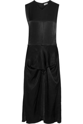 BY MALENE BIRGER Benignan draped satin-crepe midi dress
