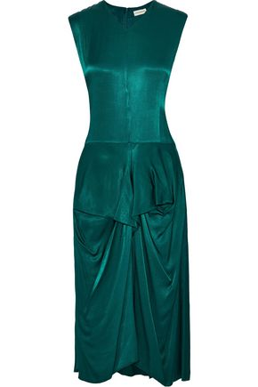 BY MALENE BIRGER Benignan draped satin-crepe midi dress