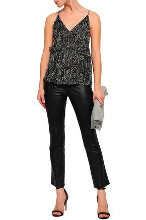IRO Gilna ruffled printed georgette camisole
