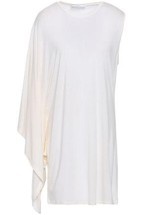 IRO Asymmetric draped stretch-jersey mini dress