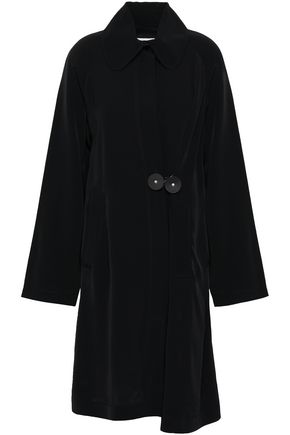 MM6 MAISON MARGIELA Leather-trimmed faille trench coat