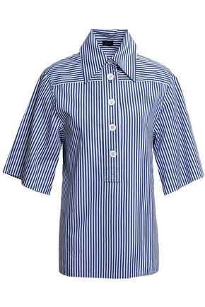 JOSEPH Striped cotton-poplin shirt