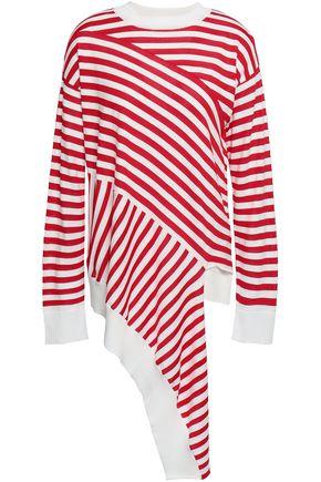 MM6 MAISON MARGIELA Asymmetric striped jersey top