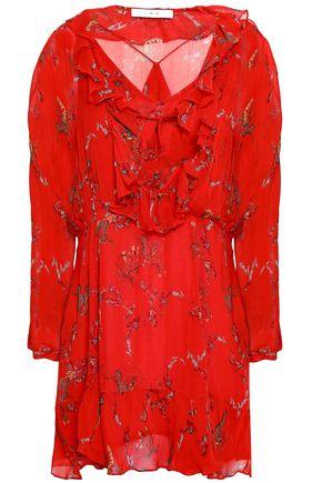 IRIEDAILY | Iro Ruffled Printed Georgette Mini Dress | Goxip