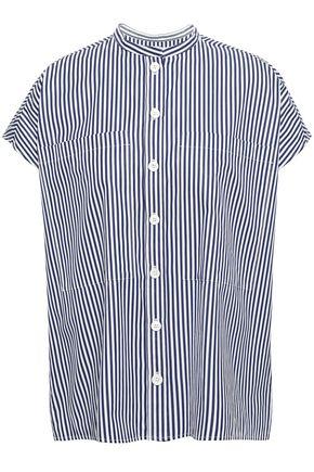 JOSEPH Striped cotton-poplin shirt