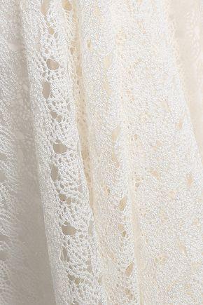 MISSONI Tie-neck crochet-knit mini dress