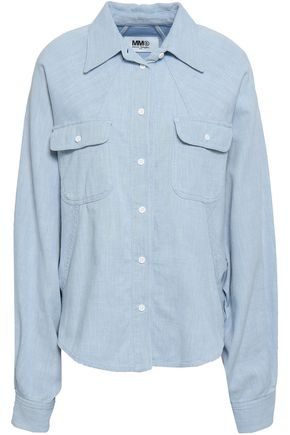 MM6 MAISON MARGIELA Gathered cotton-twill shirt
