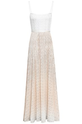 MISSONI Open-back dégradé crochet-knit gown