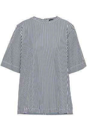 JOSEPH Striped cotton-poplin top