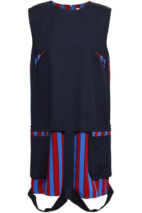MAISON MARGIELA Cutout paneled cotton-blend twill mini dress
