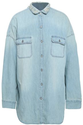 IRO Distressed denim shirt