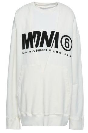 MM6 MAISON MARGIELA Printed French cotton-terry sweatshirt