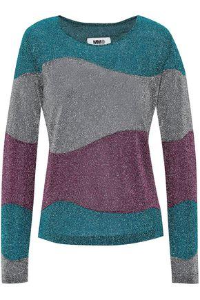 MM6 MAISON MARGIELA Metallic crochet-knit top