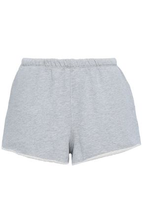 FRAME Mélange French cotton-terry shorts