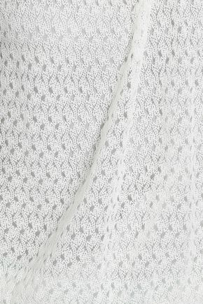 MISSONI Gathered crochet-knit top
