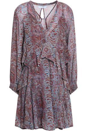 IRO Ilacie ruffled printed cotton-gauze mini dress