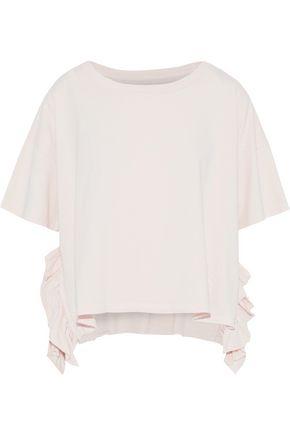 CURRENT/ELLIOTT The Side Slit ruffle-trimmed cotton-jersey T-shirt