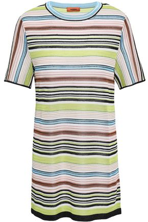 MISSONI Striped crochet-knit top