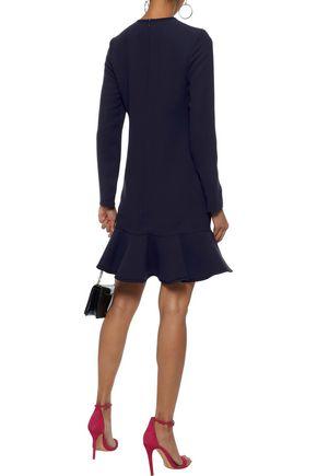 VICTORIA, VICTORIA BECKHAM Fluted ponte mini dress