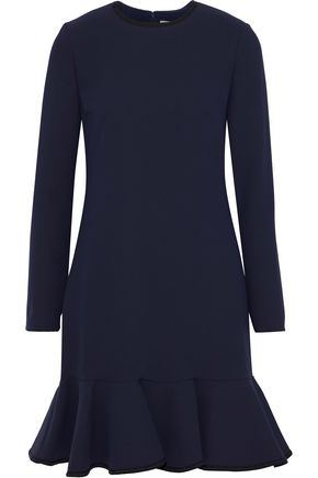 VICTORIA, VICTORIA BECKHAM Fluted ponte mini dress