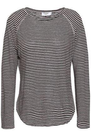 FRAME Slub linen-jersey top