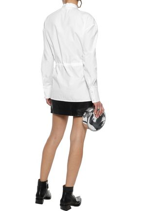 VICTORIA, VICTORIA BECKHAM Bow-detailed cotton-poplin top