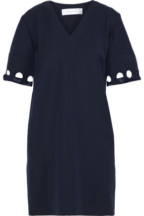 VICTORIA, VICTORIA BECKHAM Whipstitched wool-twill mini dress