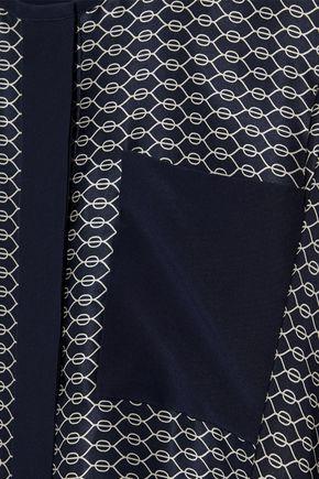 VICTORIA, VICTORIA BECKHAM Printed silk-satin mini dress