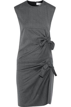 VICTORIA, VICTORIA BECKHAM Knotted herringbone wool mini dress
