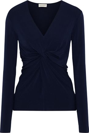 BY MALENE BIRGER Sulana knotted stretch-crepe top