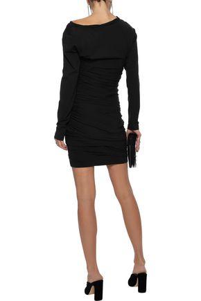 ALEXANDER WANG Ruched stretch-cotton jersey mini dress
