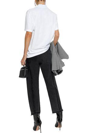 ALEXANDER WANG Appliquéd cotton-jersey T-shirt