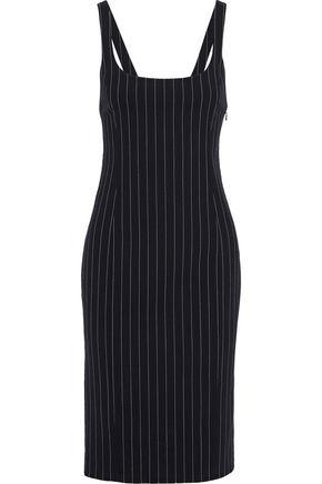 ALEXANDER WANG Pinstriped stretch-wool dress