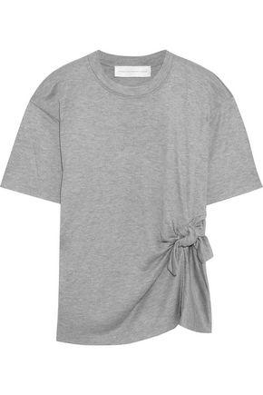VICTORIA, VICTORIA BECKHAM Knotted mélange stretch-jersey T-shirt