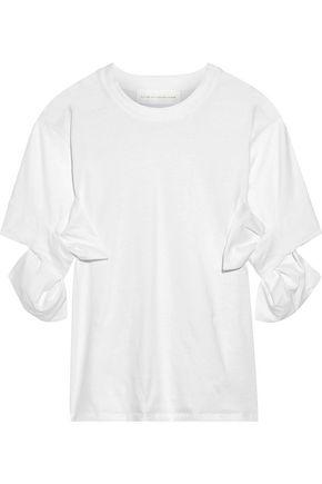 VICTORIA, VICTORIA BECKHAM Bow-embellished cotton-jersey T-shirt
