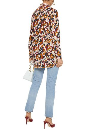BY MALENE BIRGER Printed cotton-poplin shirt