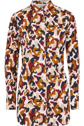 BY MALENE BIRGER Printed cotton-poplin shirt