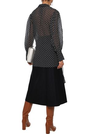 BY MALENE BIRGER Printed crinkled cotton and silk-blend gauze blouse