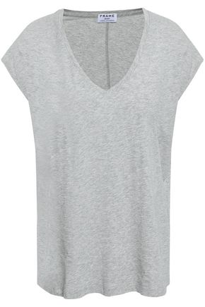 FRAME Mélange Supima cotton-jersey T-shirt