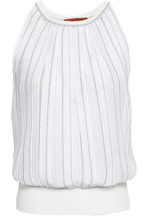 MISSONI | Missoni Gathered Metallic Crochet-Knit Top | Goxip