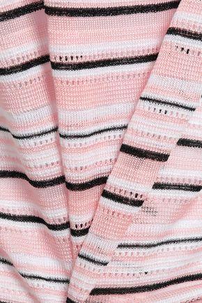 MISSONI Striped pointelle-knit tank