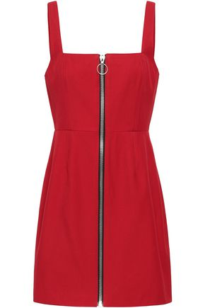 NICHOLAS Zip-detailed twill mini dress