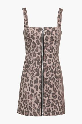 NICHOLAS Leopard-print cotton-blend twill mini dress