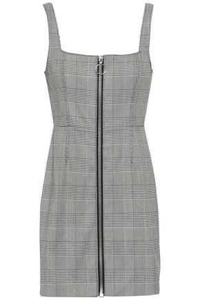 NICHOLAS Prince of Wales checked jacquard mini dress