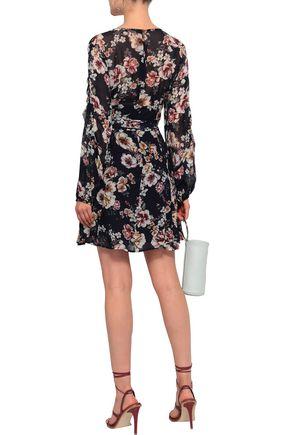 NICHOLAS Ruffled floral-print silk-georgette mini dress