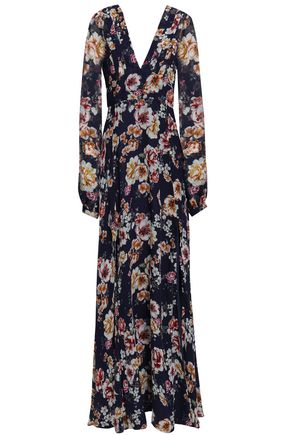 NICHOLAS Floral-print silk-georgette maxi dress