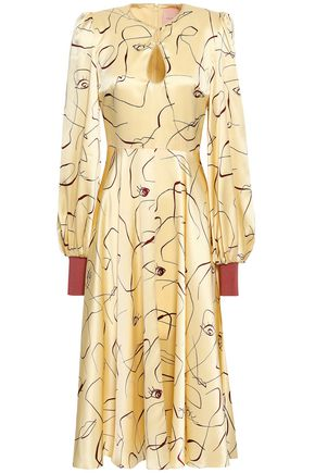 ccd5e45bee06 ROKSANDA Cutout printed silk-satin midi dress
